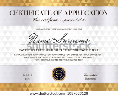 modern vector certificate template with geometric shapes download