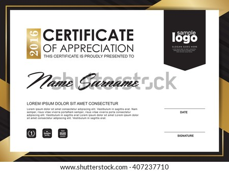 Elegant Luxury Modern Certificate Design Template  Download Free