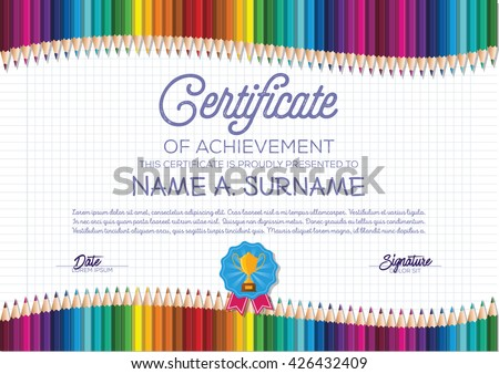 children s certificate template
