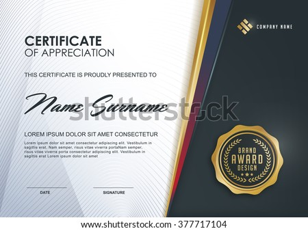 Certificate Vector Template Download Free Vector Art – Certificate Layout
