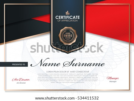 certificate template with luxury and modern pattern,diploma,Vector illustration