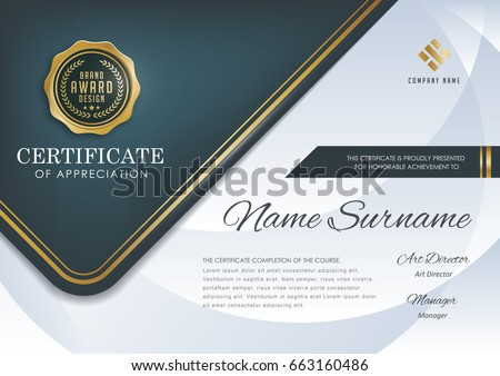 certificate template with luxury pattern,diploma,Vector illustration.