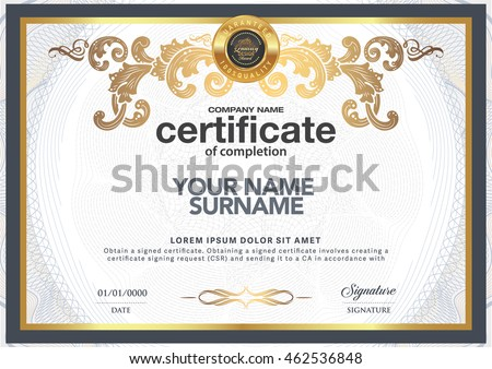 vector images illustrations and cliparts certificate to be elegant