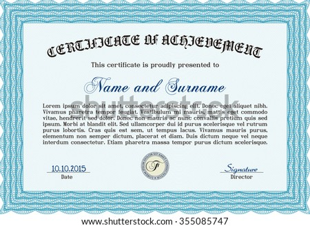 Certificate. Vector pattern that is used in currency and diplomas.Lovely design. With background.