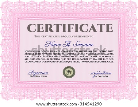 Certificate. Vector pattern that is used in money and certificate.Complex background. Retro design.