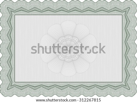 Certificate. With guilloche pattern and background. Elegant design. Detailed.