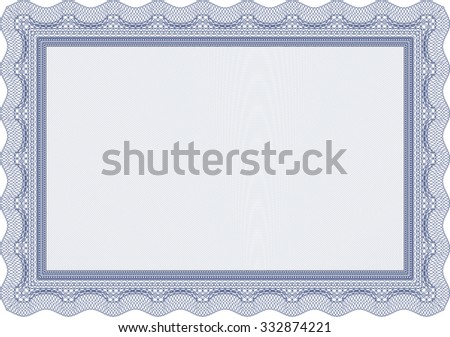 Certificate. With quality background. Retro design. Money style. #332874221