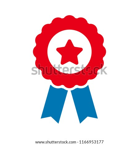 certification seal icon - vector award badge, certificate icon - warranty ribbon stamp symbol - quality guarantee sign