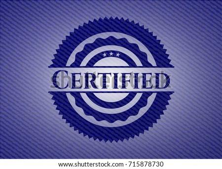 Certified denim background