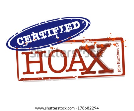 certified hoax stamps in vector