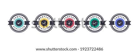 Certified logo badge template. Digital Certification emblem with vintage concept design. Vector illustration.