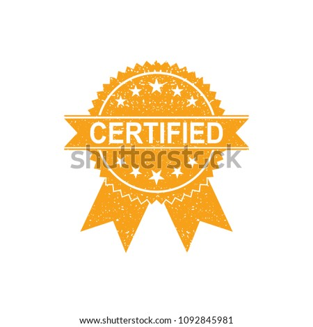 Certified Medal Icon. Approved certified icon. Certified seal