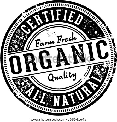 Certified Organic Food Product Label