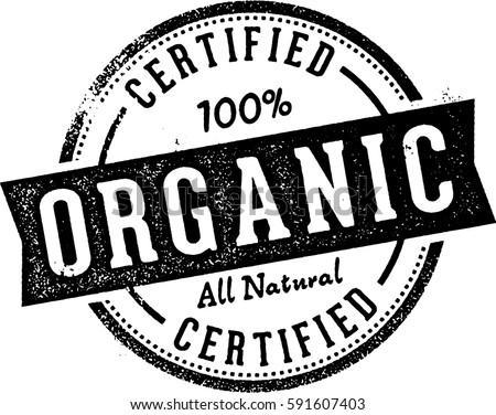 Certified Organic Food Stamp Label