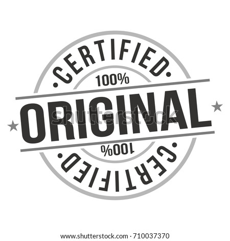 Certified Original Stamp Design Vector Art Seal. badge Illustration Icon. Stock photo ©