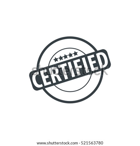 Certified Stamp Icon Design Template