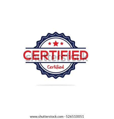 Certified stamp vector, Certified label