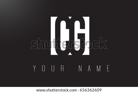 CG Letter Logo With Black and White Letters Negative Space Design.