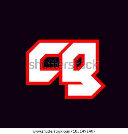 cg logo design  initial cg