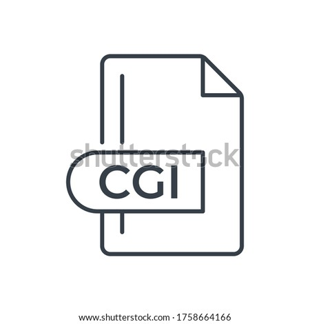 CGI File Format Icon. CGI extension line icon. Сток-фото ©