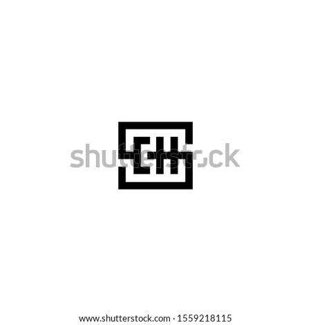CH CHS C H S creative logo design template