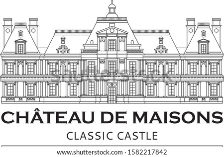 Château de Maisons vector with editable and removable lines Photo stock ©
