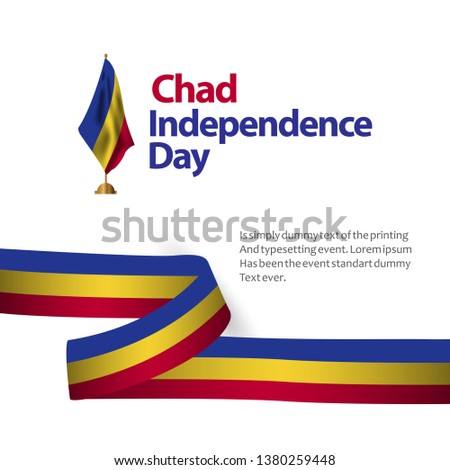 Chad Independence Day Vector Template Design Illustration #1380259448