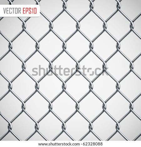 Chain Fence. Vector illustration - stock vector