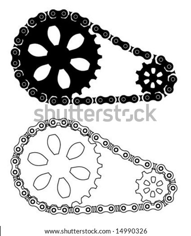 Stock Vector Chain Gears Design on sprocket drawings