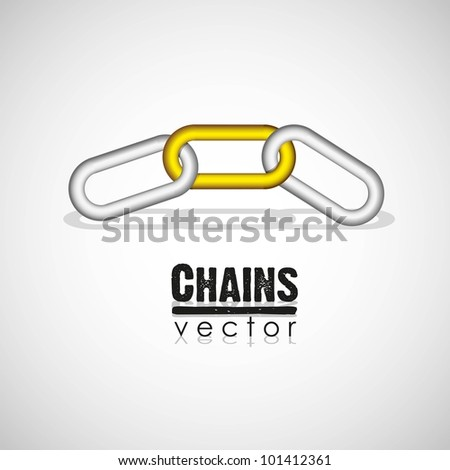 chain link concept, vector illustration