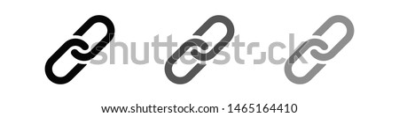Chain, link icon vector. Link icon. Hyperlink chain symbol. Chain vector symbol. External Link icon isolated. Link Icon Flat Design