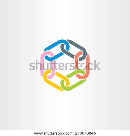 chain link vector symbol design element color stock photo