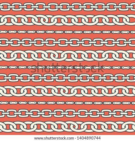 Chain pattern for decorative design. Decorative stripe background. Fashion print hand drawn texture. Vector illustration