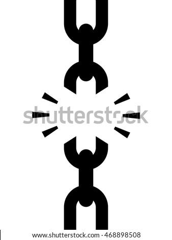 chain with broken weak link