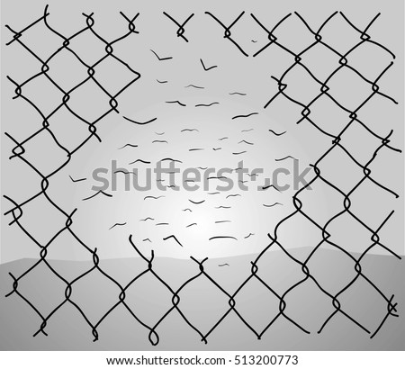 chainlink fence hole