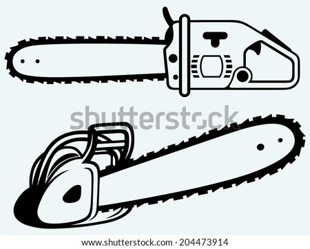 chainsaw image isolated on