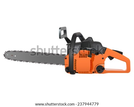 chainsaw isolated on a white