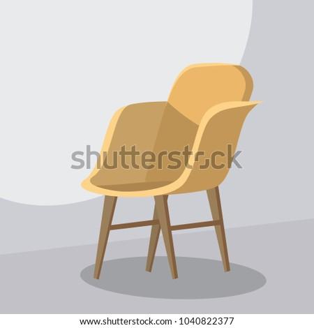 Chair cartoon, isolated vector illustration, template for animatoin #1040822377