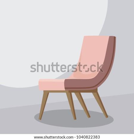 Chair cartoon, isolated vector illustration, template for animatoin #1040822383
