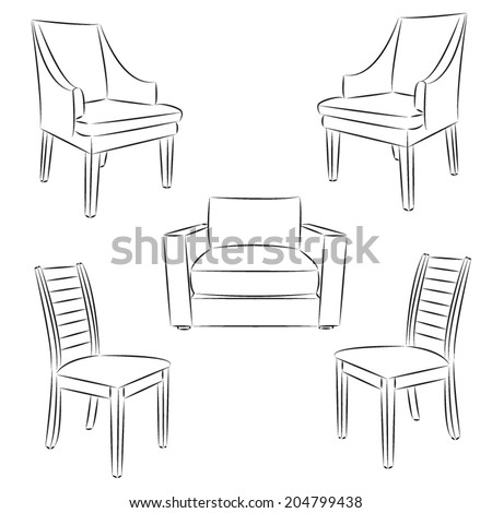 Stock images similar to id 59810380 drawing of living room for Living room outline