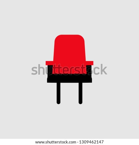 Chair icon. Element of Theatre icon for mobile concept and web apps. Detailed Chair icon can be used for web and mobile