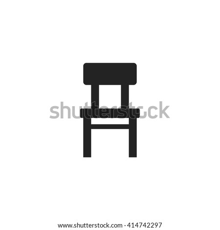chair icon fill black