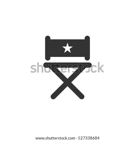Chair icon flat. Illustration isolated vector sign symbol