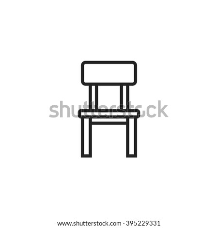 chair outline icon