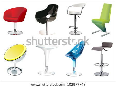 Chair Set - stock vector