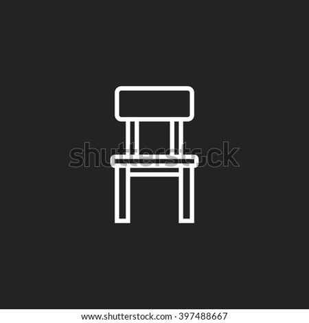 chair white outline icon on