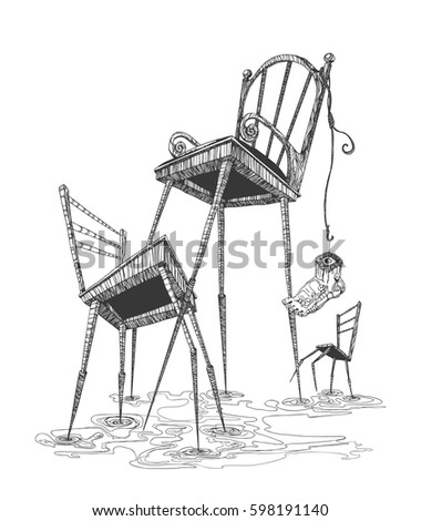 chairs with long legs the