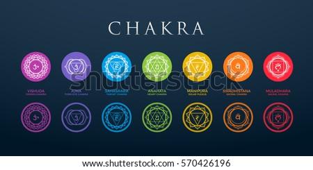 chakra set with dark background