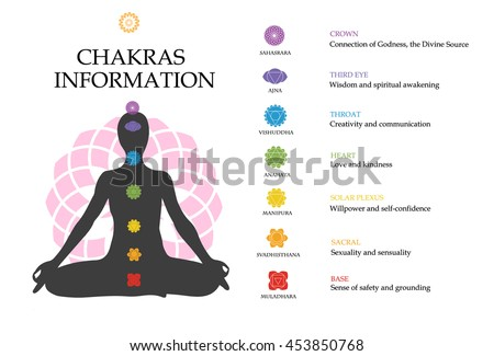 chakras information isolated