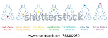 chakras   meditating woman in